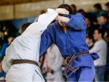 Dois homens lutando judô